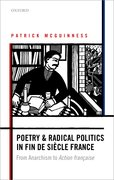 Cover for Poetry and Radical Politics in fin de siecle France
