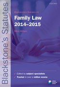 Blackstone's Statutes on Family Law 2014-2015