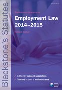 Kidner: Employment Law 2014-2015