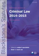 Glazebrook: Criminal Law 2014-2015