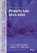 Thomas: Property Law 2014-2015