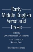 Cover for Early Middle English Verse and Prose