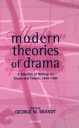 Cover for Modern Theories of Drama