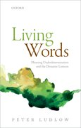 Cover for Living Words