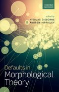 Cover for Defaults in Morphological Theory
