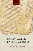 Cover for Early Greek Relative Clauses