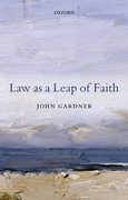 Cover for Law as a Leap of Faith
