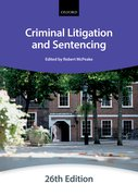 Cover for Criminal Litigation & Sentencing
