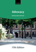 Cover for Advocacy