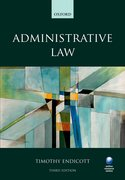 Cover for Administrative Law 3e