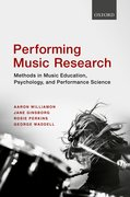 Cover for Performing Music Research - 9780198714545