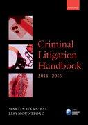 Cover for Criminal Litigation Handbook 2014-2015