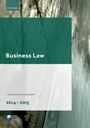 Cover for Business Law 2014-2015