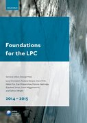 Cover for Foundations for the LPC 2014-15