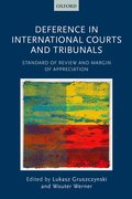 Cover for Deference in International Courts and Tribunals