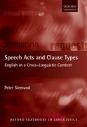 Cover for Speech Acts and Clause Types