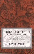 Cover for Horace Odes III Dulce Periculum