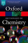 Cover for A Dictionary of Chemistry - 9780198722823