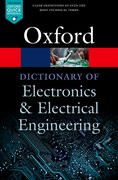 Cover for A Dictionary of Electronics and Electrical Engineering
