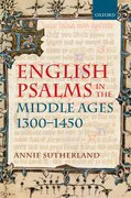 Cover for English Psalms in the Middle Ages, 1300-1450