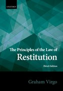 Cover for Principles of the Law of Restitution