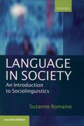 Cover for Language in Society