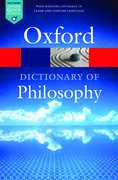 Cover for The Oxford Dictionary of Philosophy