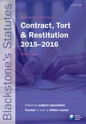 Rose: Contract, Tort & Restitution 2015-2016