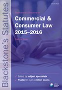 Blackstone's Statutes on Commercial & Consumer Law 2015-2016
