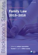 Blackstone's Statutes on Family Law 2015���2016