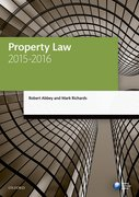 Cover for Property Law 2015-2016