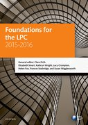 Cover for Foundations for the LPC 2015-16
