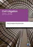 Cover for Civil Litigation 2015-2016