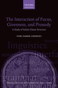 Cover for The Interaction of Focus and Givenness in Italian Clause Structure
