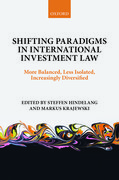 Cover for Shifting Paradigms in International Investment Law
