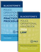 Blackstone's Police Operational Handbook 2016: Law & Practice and Procedure Pack