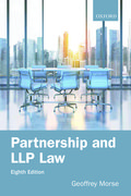Cover for Partnership and LLP Law 8e