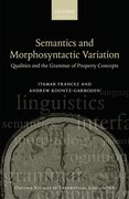 Cover for Semantics and Morphosyntactic Variation - 9780198744597