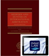 Cover for Redfern and Hunter on International Arbitration (Hardcover and eBook)
