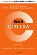 Cover for Concentrate Questions and Answers Tort Law