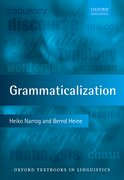 Cover for Grammaticalization