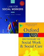 Cover for Law for Social Workers & A Dictionary of Social Work and Social Care Pack