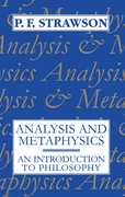 Cover for Analysis and Metaphysics
