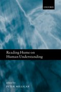 Cover for Reading Hume on Human Understanding