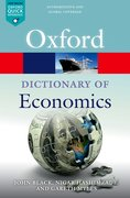 Cover for A Dictionary  of Economics - 9780198759430