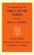 Cover for An Introduction to the Law of Torts