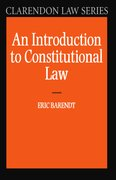 Cover for An Introduction to Constitutional Law