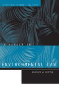 Cover for A Reader in Environmental Law