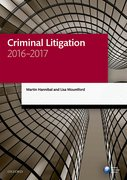 Cover for Criminal Litigation 2016-2017