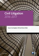 Cover for Civil Litigation 2016-2017